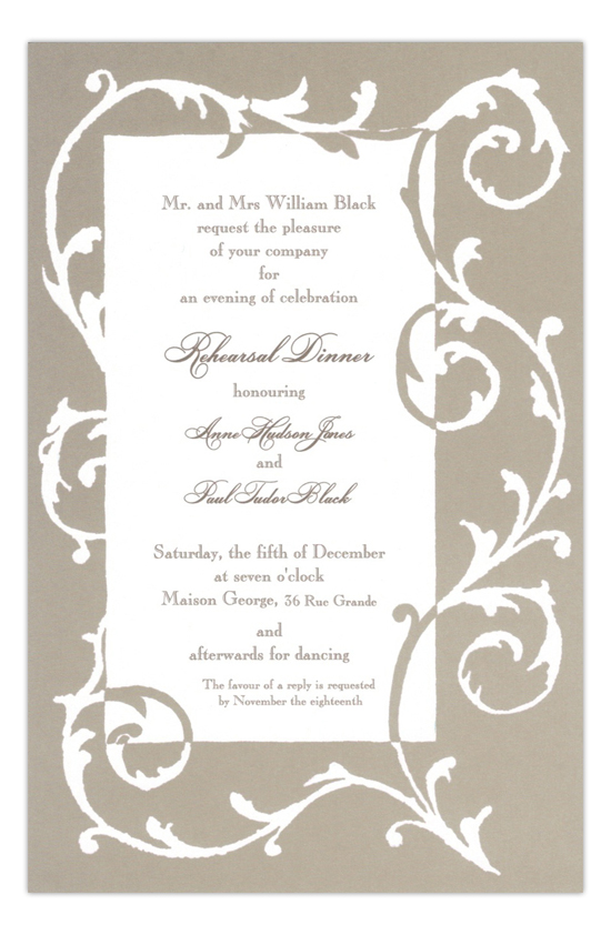Vine Dove Formal Border Party Invitation