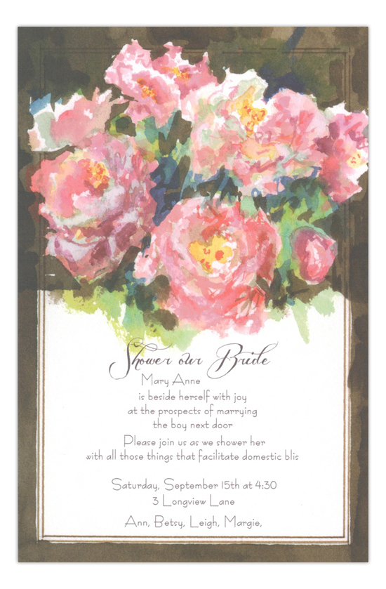 Constance Spry Formal Bridal Shower Invitation