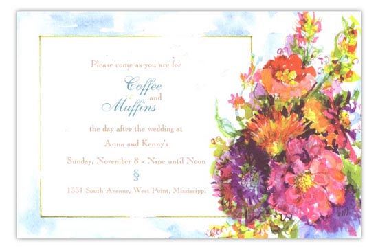 Pow Posies Fiesta Party Invitation