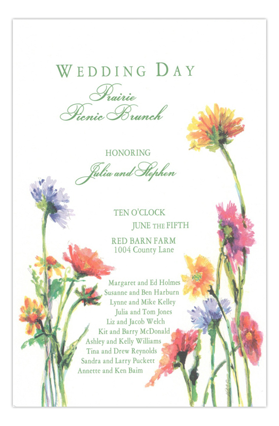 Pasture Posies Formal Wedding Invitation