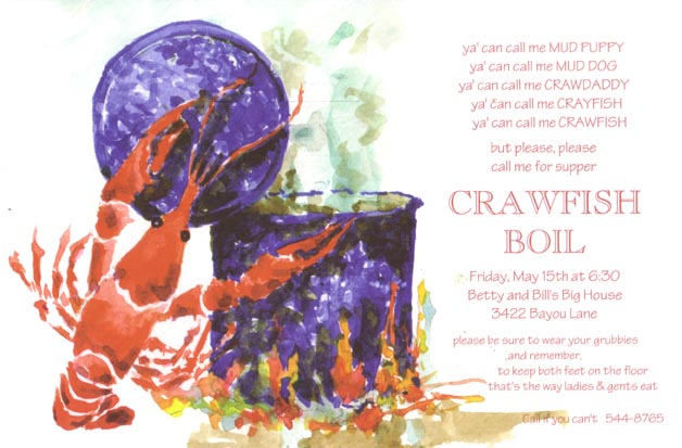 Cajun Cook Invitation