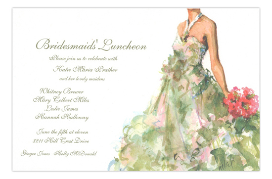Just Perfect Formal Bridesmaids Luncheon Invitation