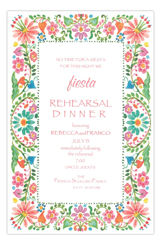 South of the Border Formal Rehearsal Dinner Invitation