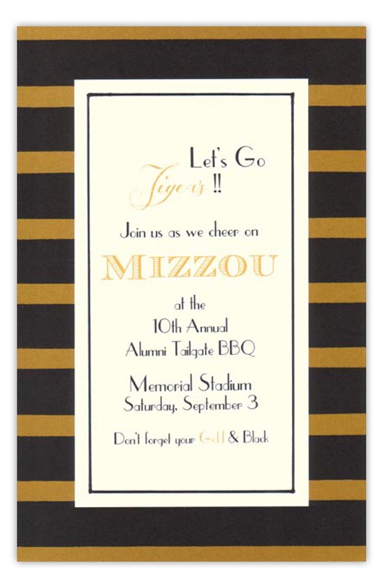Black and Gold Invitation