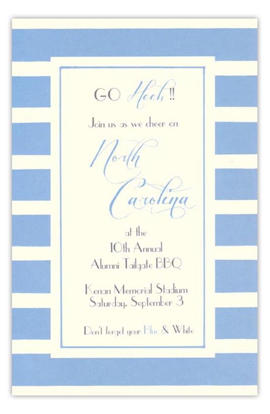 Sky Blue and White Invitation