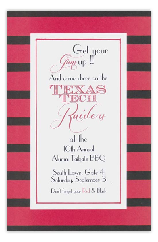 Red and Black Invitation