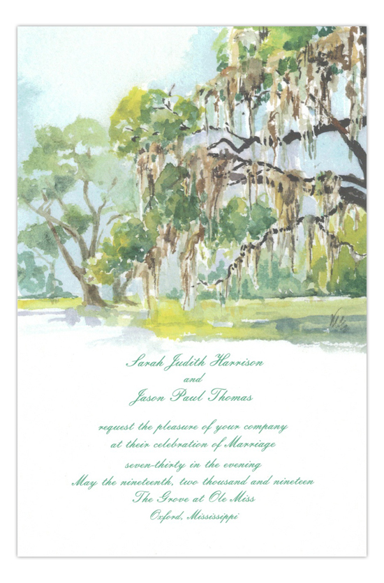 The Grove Formal Wedding Invitation