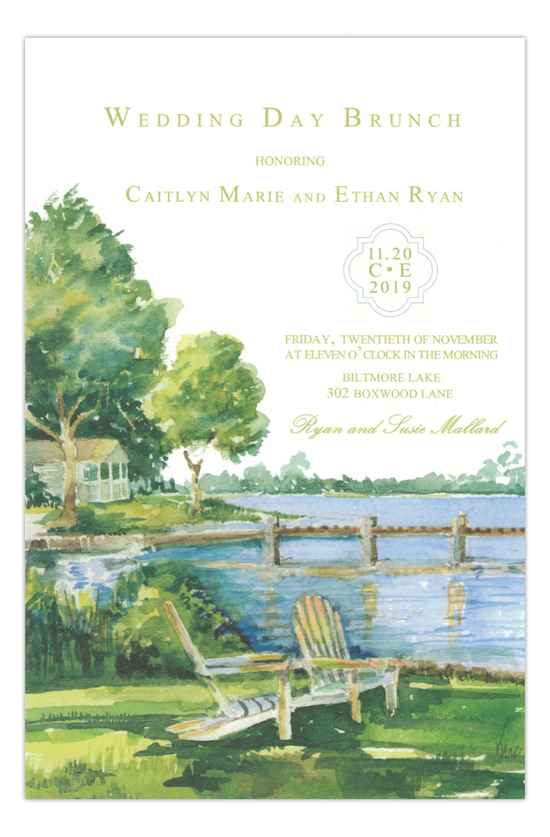 Bayside Formal Wedding Invitation