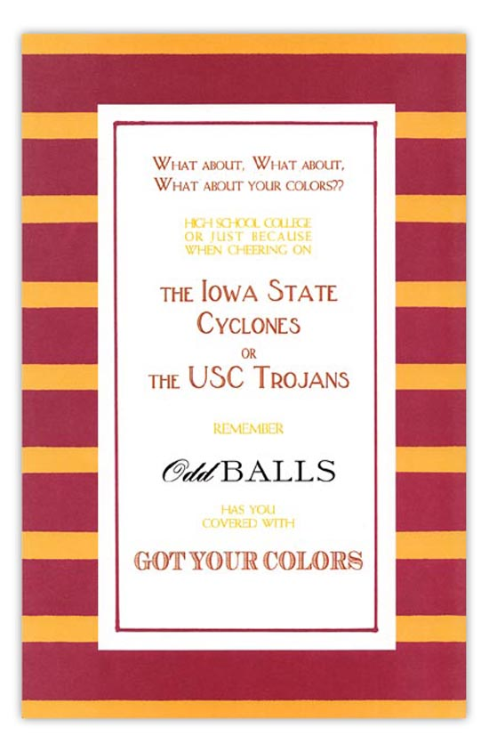 Cardinal and Gold Invitation