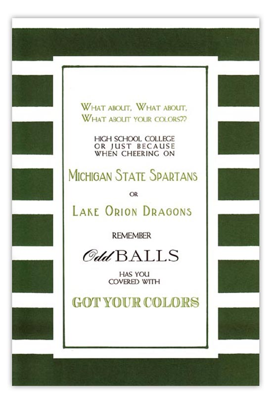 Green and White Invitation