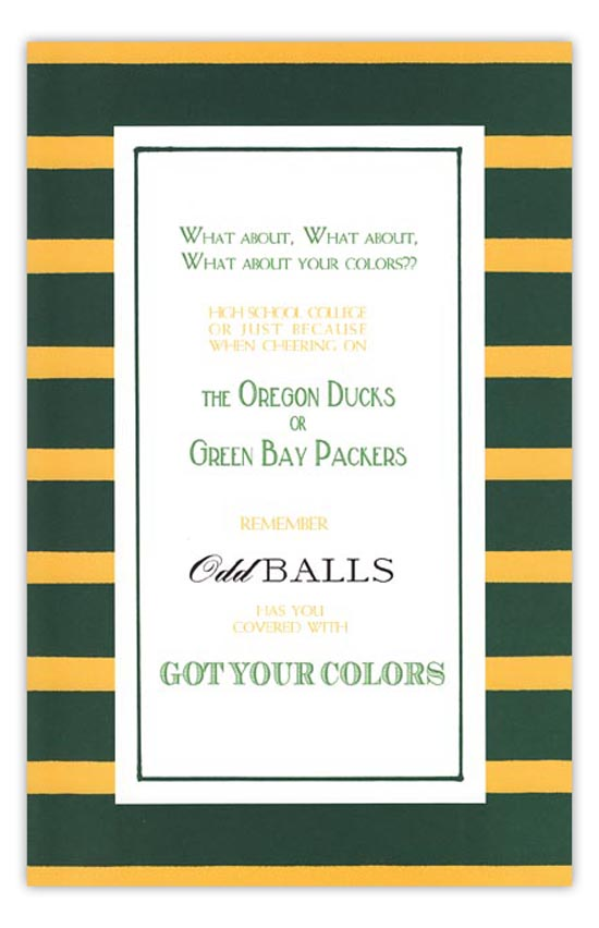 Green and Gold Invitation