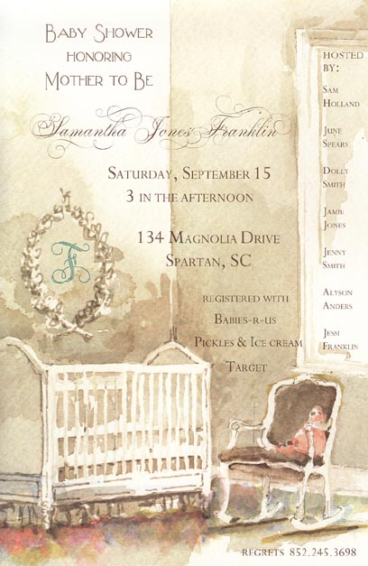 Babys Room Baby Shower Invitation