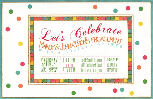 Rainbow Dots Invitation