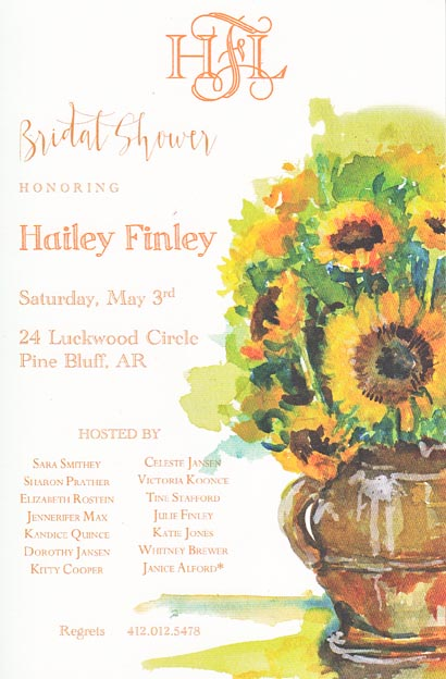 Vango Sunflowers Invitation