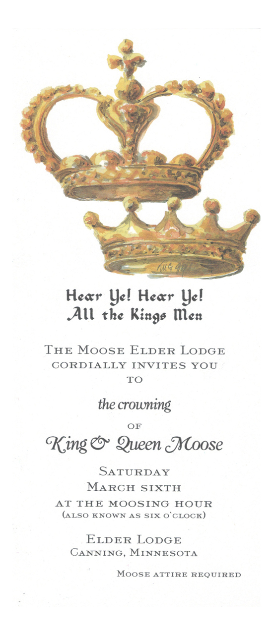 Kings Queens Crown Invitation