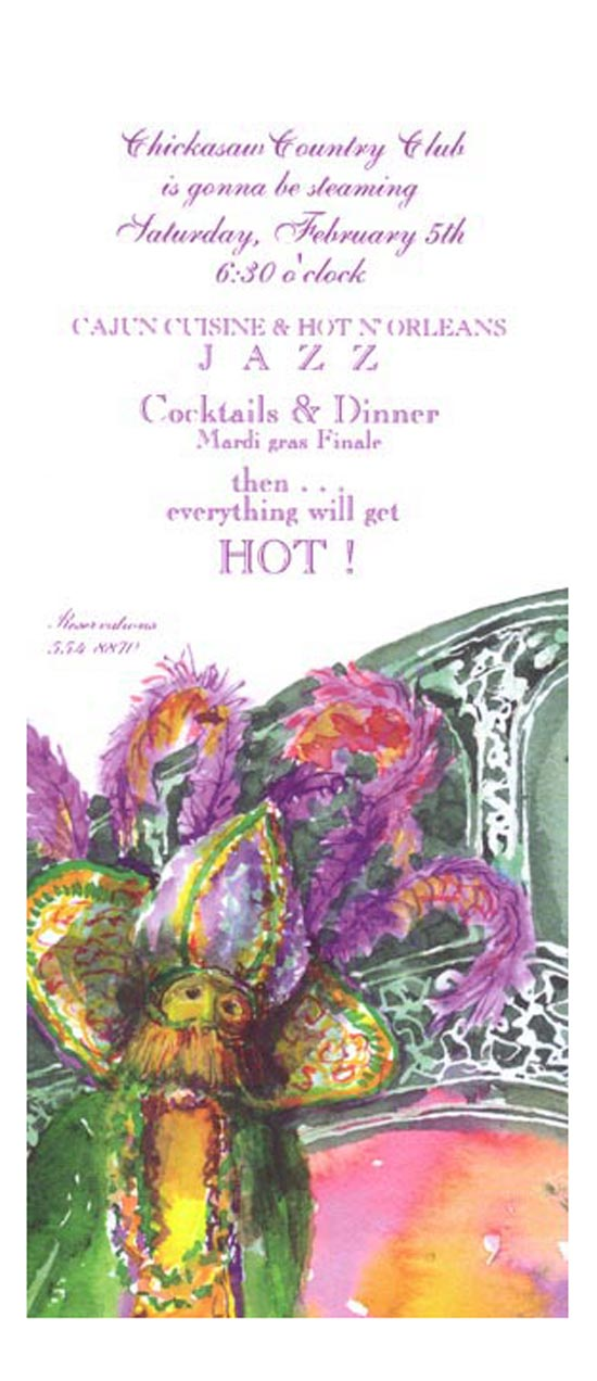 Fete Regalia Mardi Gras Invitation