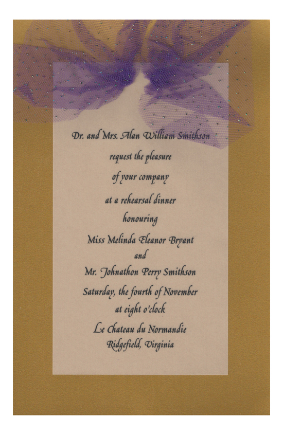 Gaudy Maudy Invitation