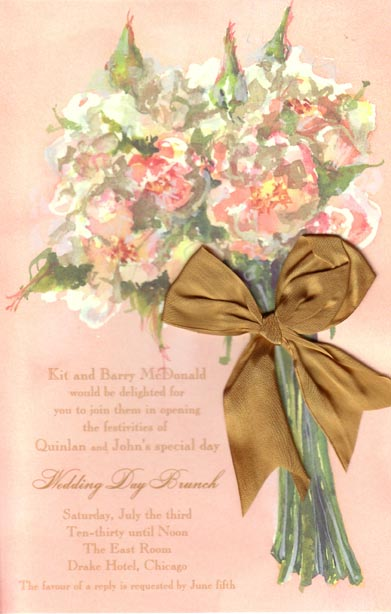 Blush Bouquet Bridal Invitation