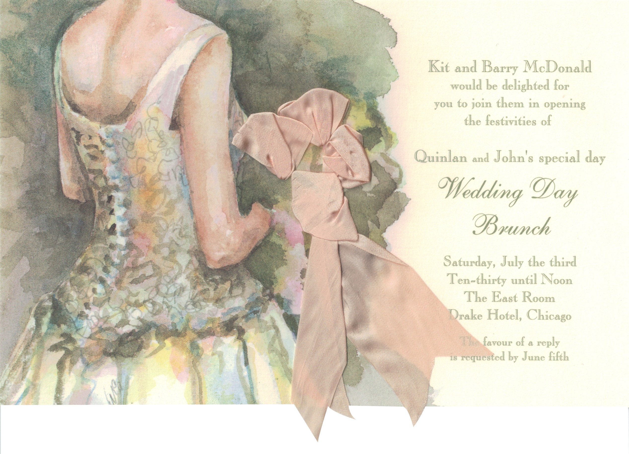 The Toss Bridal Invitation