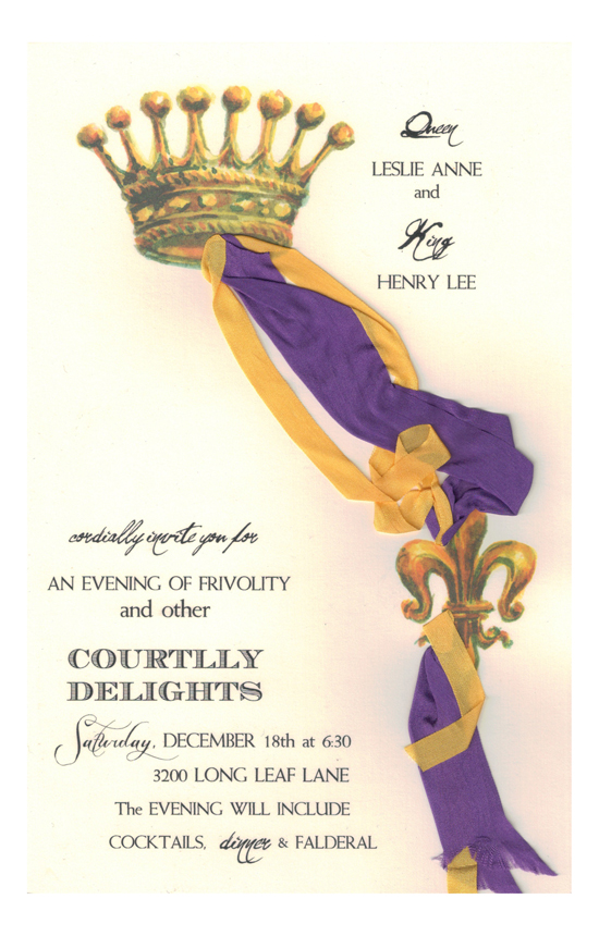 Courtly Crown Invitation
