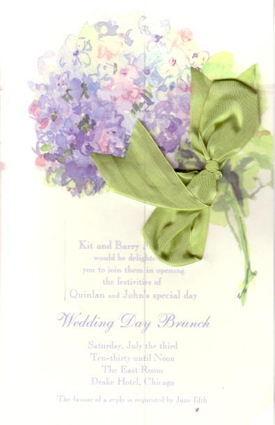 Nikko Blue Bridal Invitation