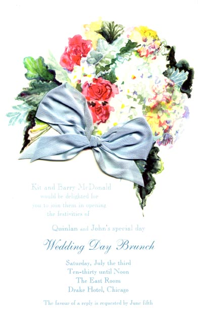 Dusty Miller Floral Invitation