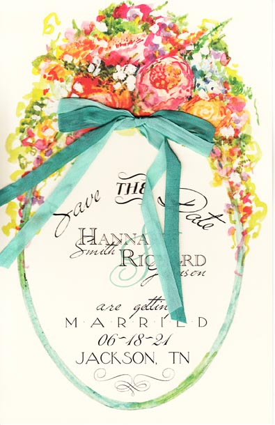 French Fleur Floral Invitation