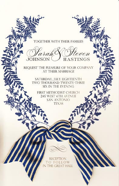 Wild Parsley and Fern Invitation