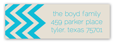 Ocean Chevron Address Label