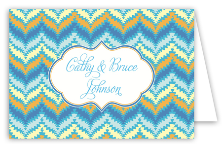 Oh Baby Blue Folded Note Card