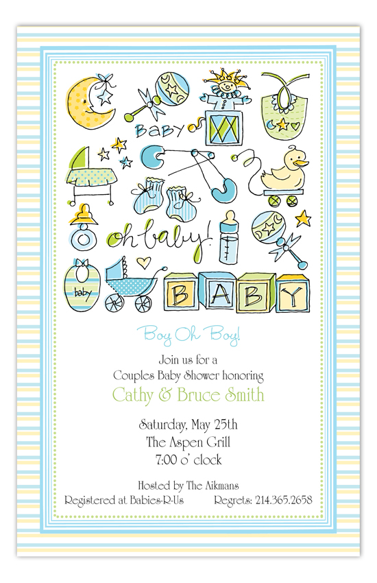 Oh Baby Boy Invitation