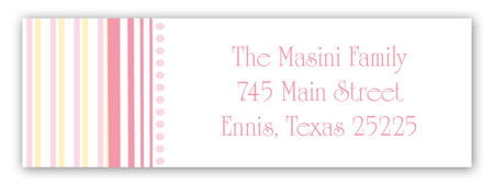 Oh Baby Girl Address Label