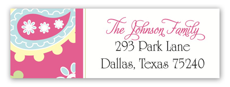 Oh Baby Pink Address Label