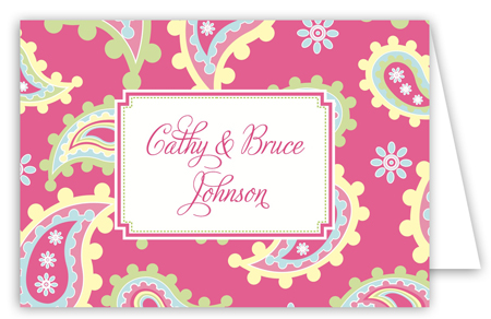 Oh Baby Pink Folded Note Card