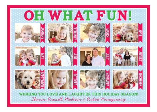 Oh What Fun Calendar Collage Photo Card