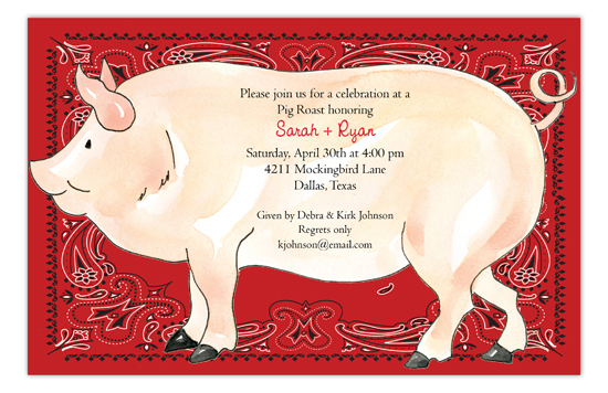 Oink Oink Invitation
