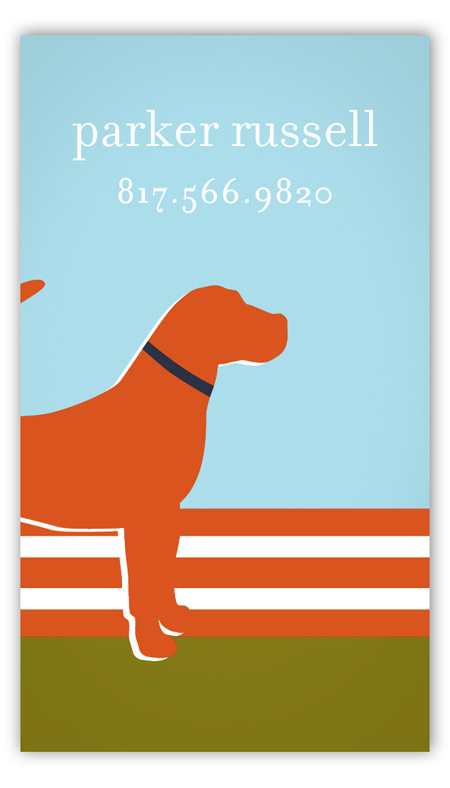 Orange Dog Days Calling Card