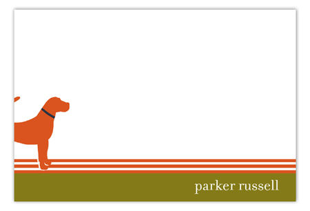 Orange Dog Days Flat Note Card