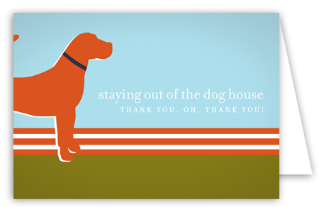 Orange Dog Days Note Card