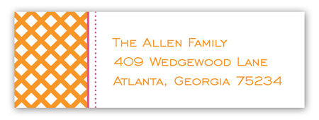 Orange Garden Trellis Address Label