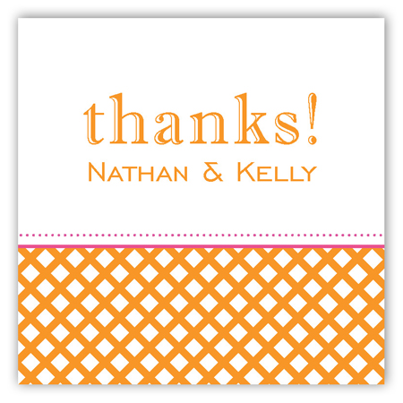 Orange Garden Trellis Square Sticker