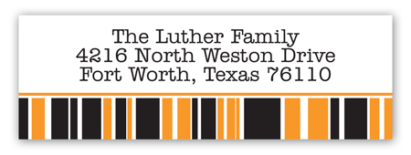 Orange Graduation Year Address Label