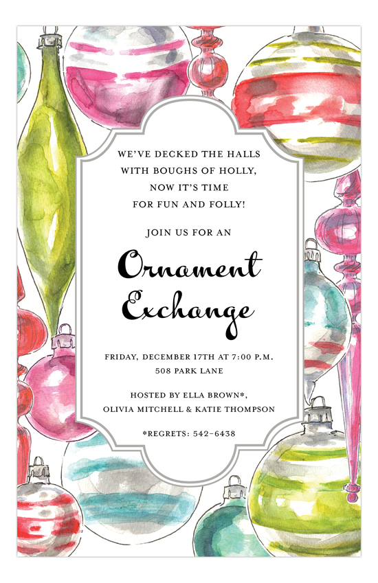 Ornament Array Invitation
