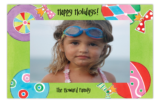 Ornament Toss Whimsy Photo Card