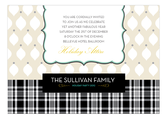 Ornaments + Plaid Invitation
