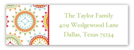 Ornate Wreaths Personalized Return Address Labels