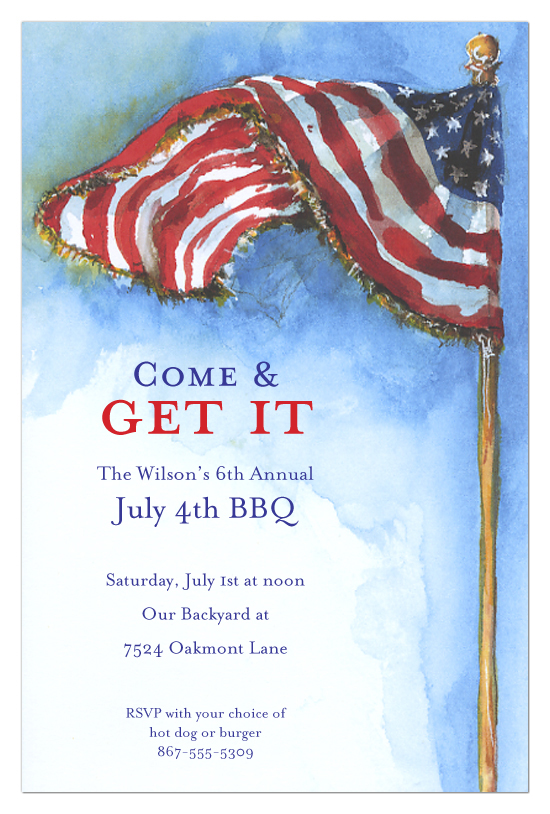 Our Flag 4th of July Invitations