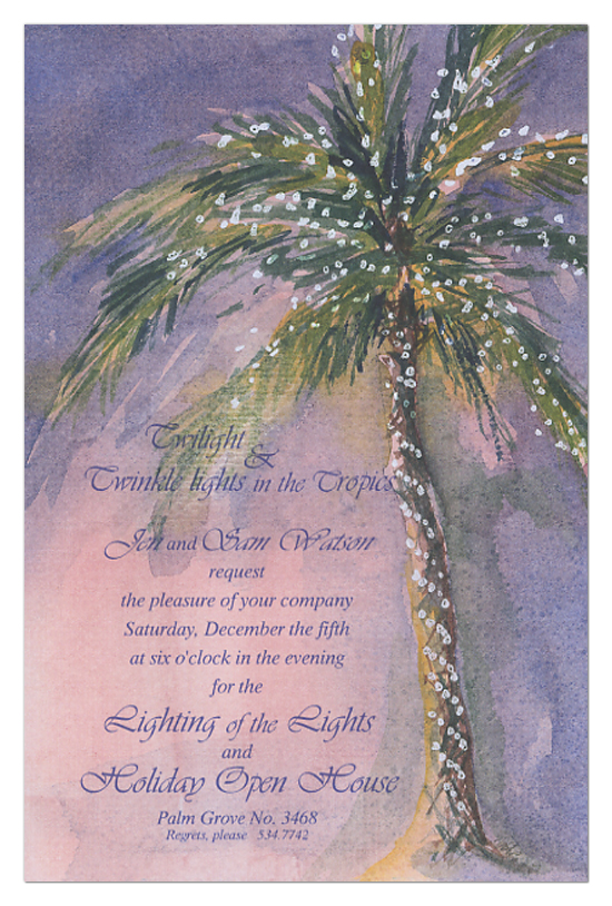 Palm Lights Invitation