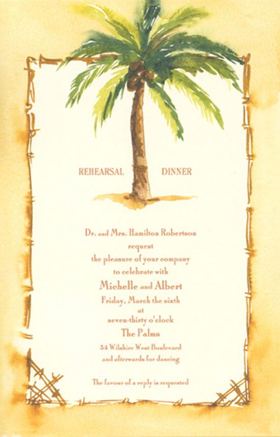 coconut palm beach luau invitations