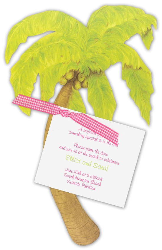 Palm Tree DIY Save the Date Invitations